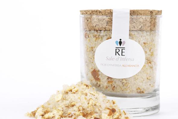 Saliny w Trapani, sól morska, sól aromatyzowana, sól pomarańczowa, sól o smaku pomarańczowym, sól aromatyzowana skórką pomarańczową, pamiątki z Trapani, souvenir Trapani, Trapani, saline di Nubia, saline di Trapani, Nubia, prodotti tipici Trapani, produkty Trapani, Sycylia, Sicilia